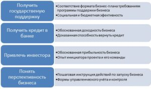 Особенности образца бизнес-плана в зависимости от целей